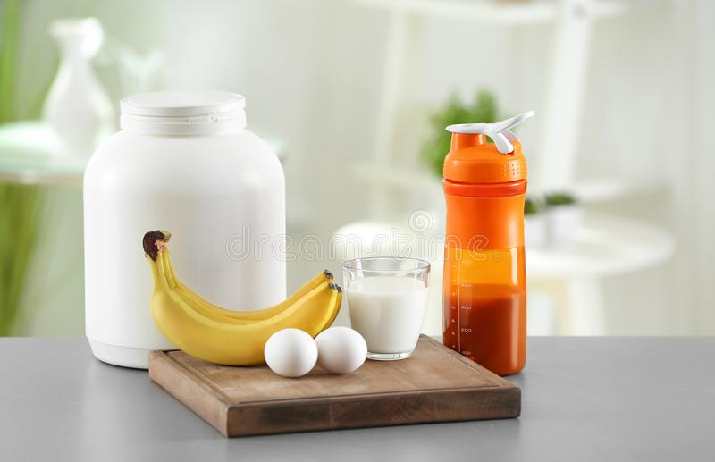 Protein shake with egg and syrup